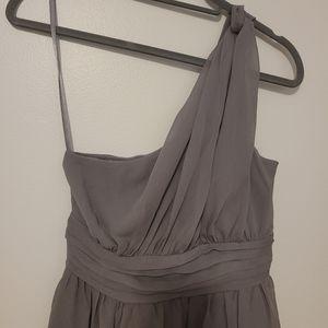 NEW TEVOLIO LIGHT GRAY ONE SHOULDER DRESS